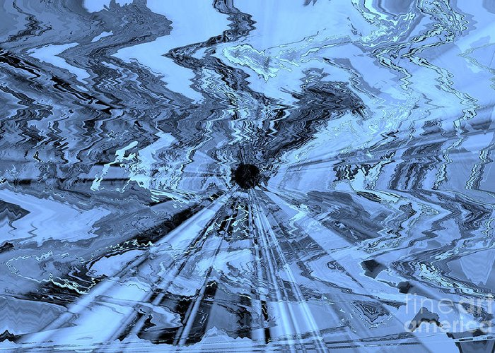 Blue Abstract Greeting Card featuring the photograph Ice Blue - Abstract Art by Carol Groenen