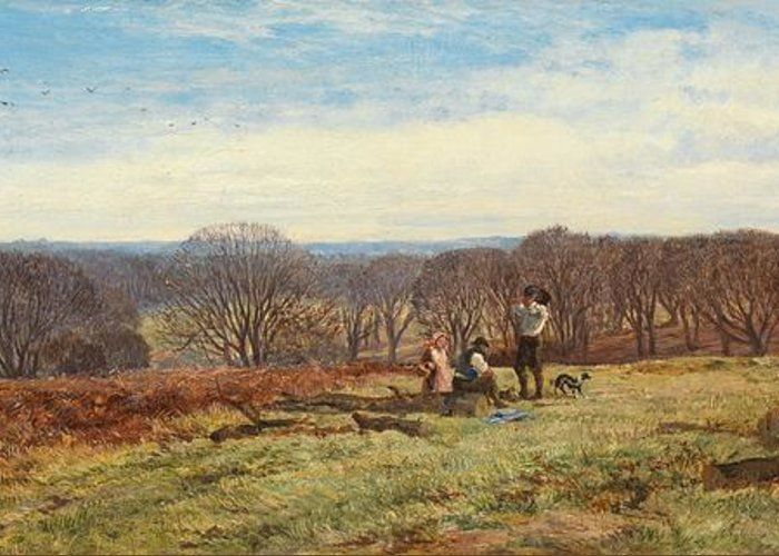 Woods Greeting Card featuring the painting In The New Forest by Heywood Hardy