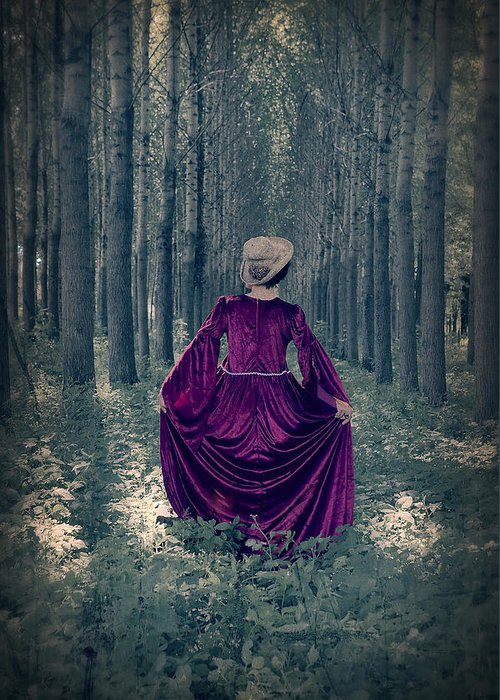 Female Greeting Card featuring the photograph In The Woods by Joana Kruse