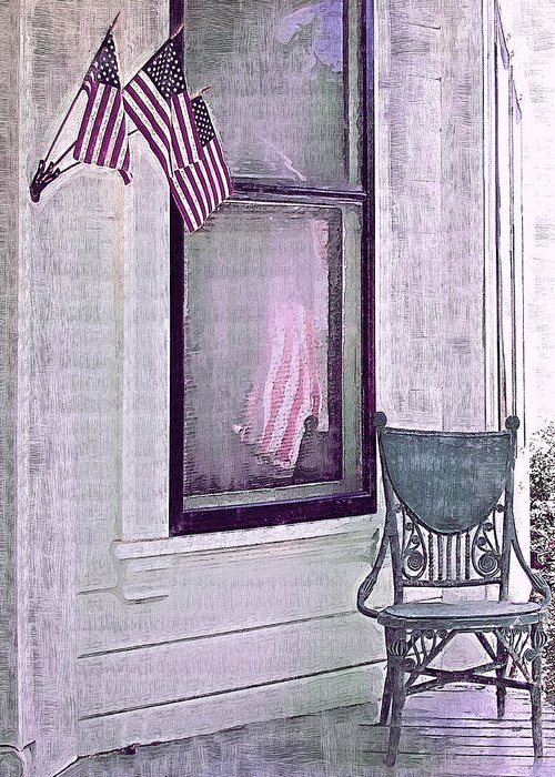 Vintage Greeting Card featuring the photograph Independence Day by Susan Lee Giles