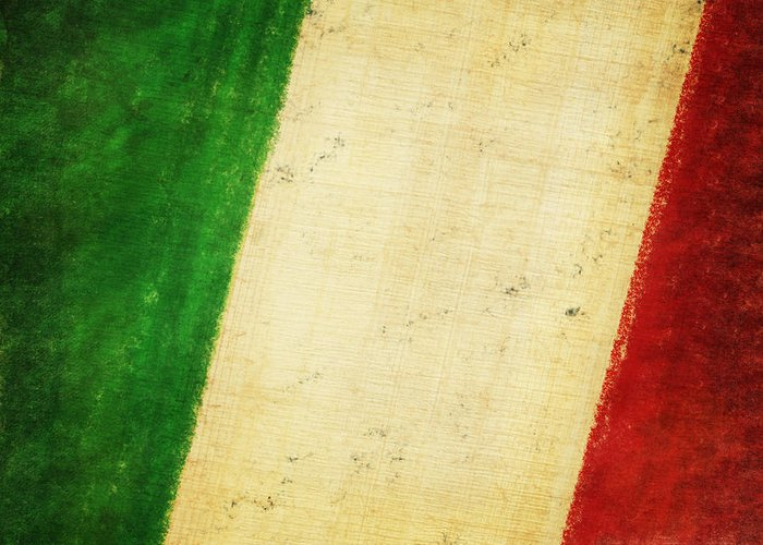 Antique Greeting Card featuring the photograph Italy Flag by Setsiri Silapasuwanchai