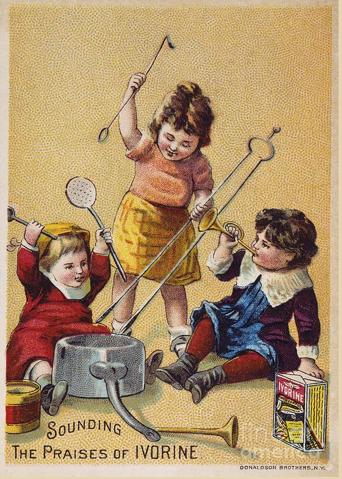 1880s Greeting Card featuring the photograph Ivorine Trade Card, C1880 by Granger
