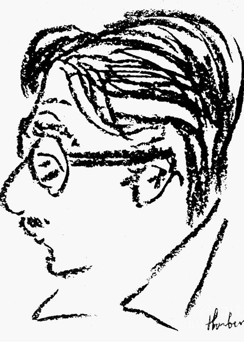 20th Century Greeting Card featuring the photograph James Grover Thurber by Granger