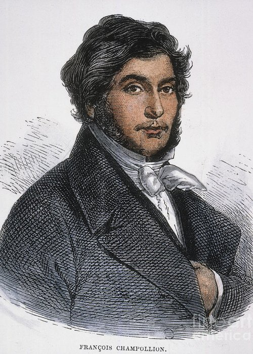 1831 Greeting Card featuring the photograph Jean-francois Champollion by Granger