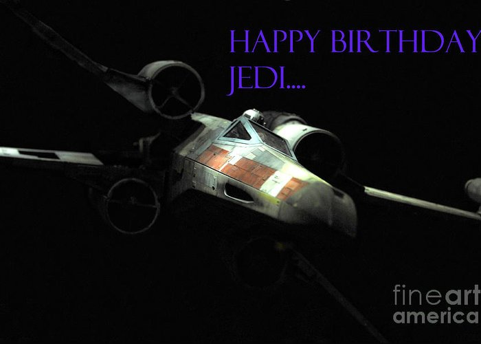 Star Wars Greeting Card featuring the photograph Jedi Birthday Card by Micah May