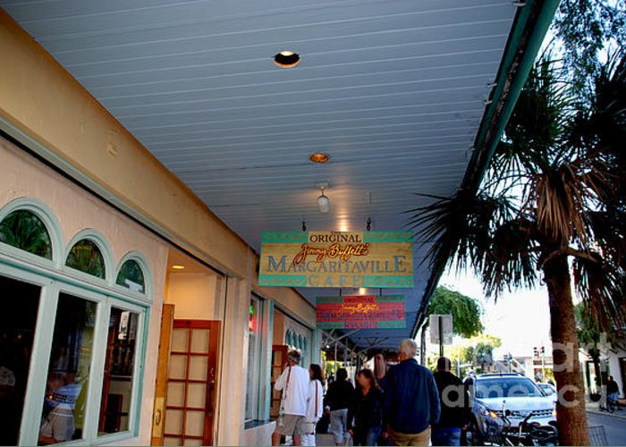 Key West Greeting Card featuring the photograph Jimmy Buffet's Margaritaville Key West by Susanne Van Hulst