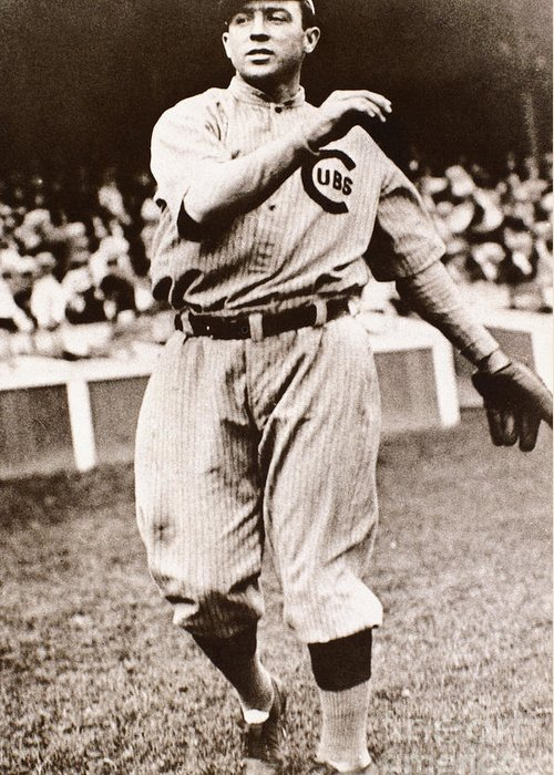 20th Century Greeting Card featuring the photograph Joe Tinker (1880-1948) by Granger