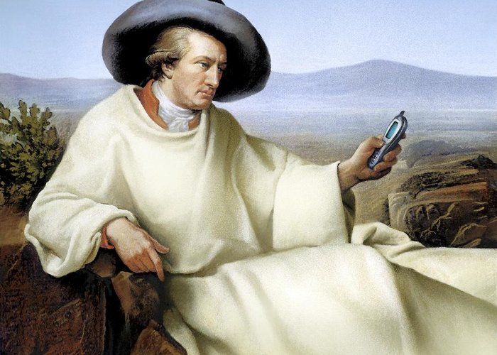 Johann Wolfgang Von Goethe Greeting Card featuring the photograph Johann Von Goethe, German Author by Smetek