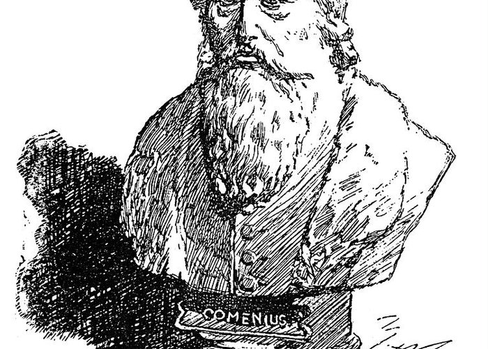 Amos Greeting Card featuring the photograph John Amos Comenius by Granger