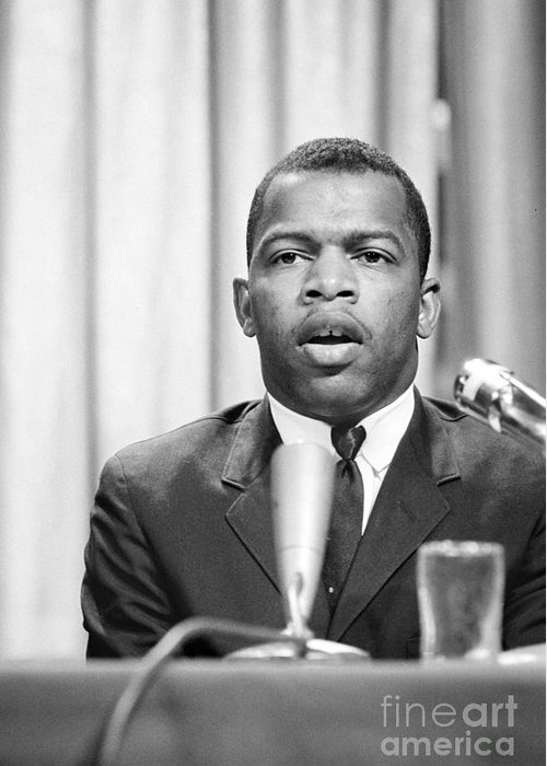 1964 Greeting Card featuring the photograph John Lewis (1940- ) by Granger