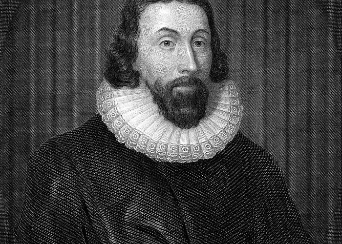 17th Century Greeting Card featuring the photograph John Winthrop (1588-1649) by Granger