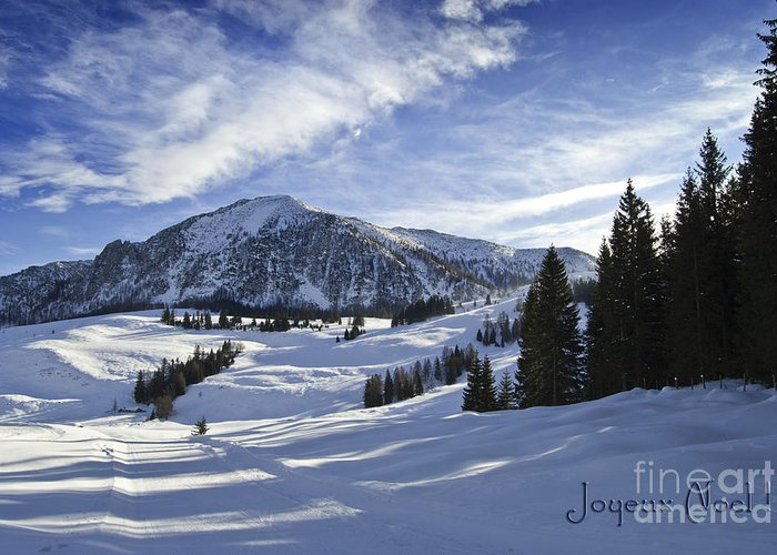Winter Greeting Card featuring the photograph Joyeux Noel Austria Europe by Sabine Jacobs