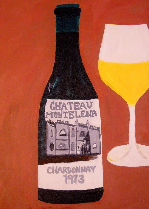 Wine Greeting Card featuring the painting Judgement Of Paris 1 by Kathleen Fitzpatrick