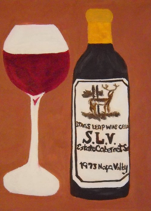 Wine Greeting Card featuring the painting Judgement Of Paris 2 by Kathleen Fitzpatrick