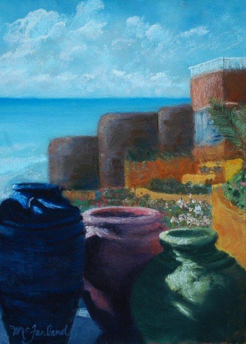 Crocks Greeting Card featuring the pastel Juju Jars - Cancun by Lorraine McFarland