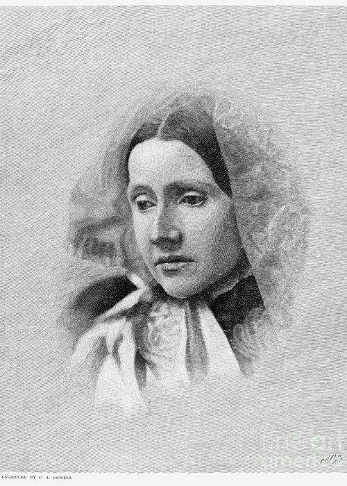 19th Century Greeting Card featuring the photograph Julia Ward Howe (1819-1910) by Granger