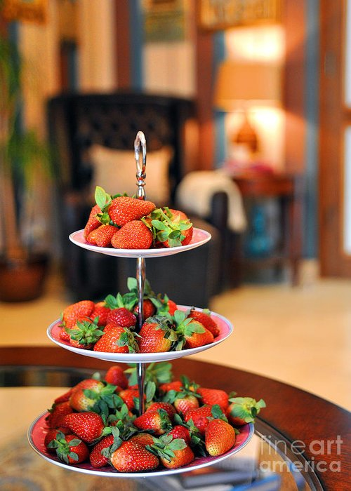 Strawberries Greeting Card featuring the photograph Just Add Cream by Graham Taylor