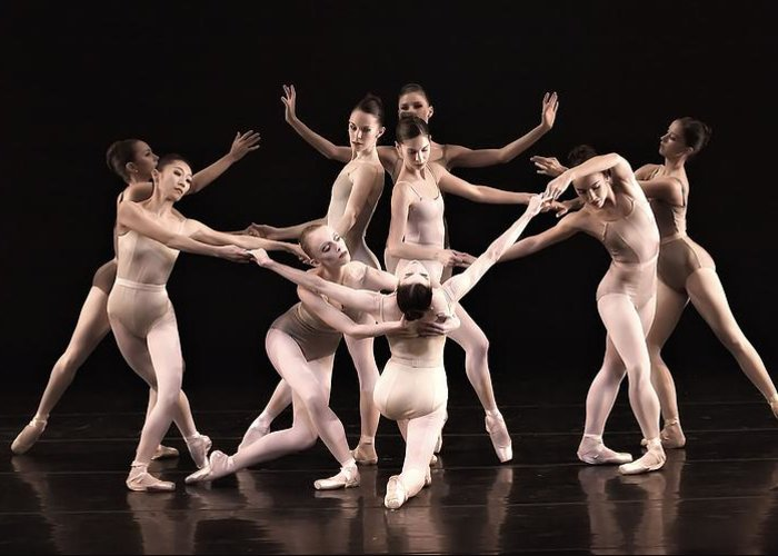 Ballet Greeting Card featuring the photograph Just The Gals by Kenneth Mucke