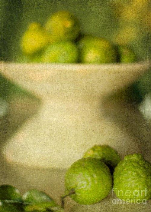 Kaffir Limes Greeting Card featuring the photograph Kaffir Limes by Linde Townsend