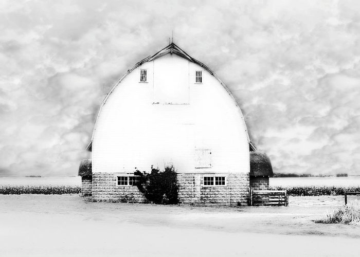 Country Art Greeting Card featuring the photograph Kays Barn by Julie Hamilton