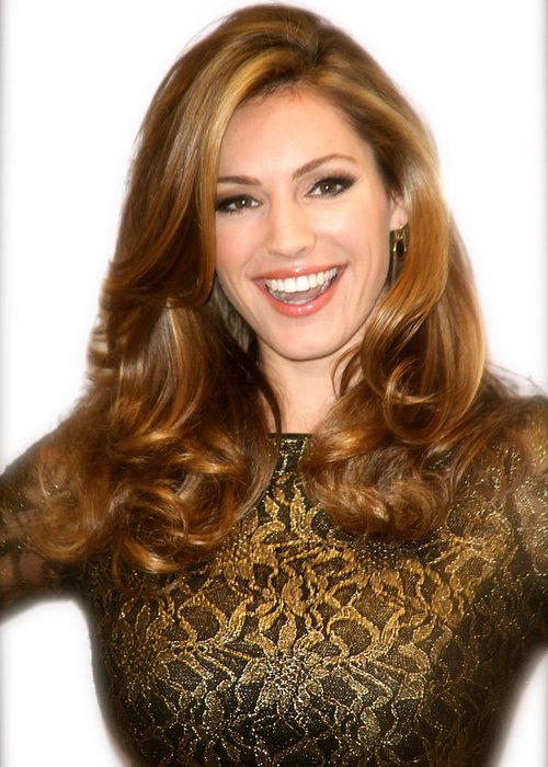 Jezcself Greeting Card featuring the photograph Kelly Brook 2 by Jez C Self