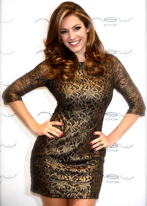 Jezcself Greeting Card featuring the photograph Kelly Brook 3 by Jez C Self