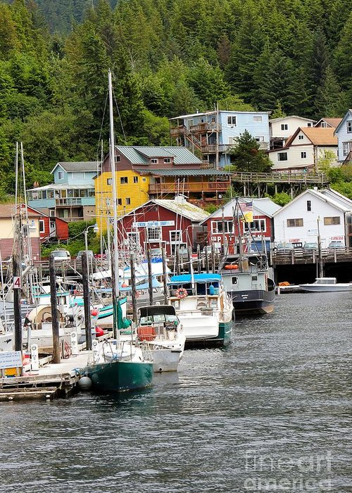 Ketchikan Greeting Card featuring the photograph Ketchikan Alaska by Sophie Vigneault