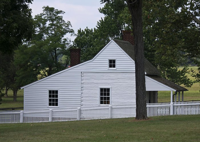 Appomattox Greeting Card featuring the photograph Kitchen And Slave Quarters Appomattox Virginia by Teresa Mucha