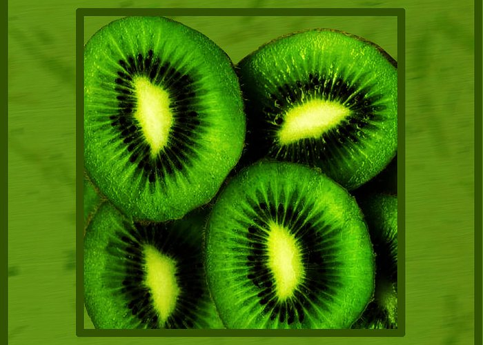 Kiwi Fruit Greeting Card featuring the photograph Kiwi Fruit by Daryl Macintyre