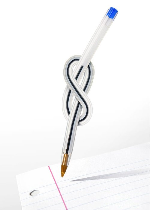 Abstract Greeting Card featuring the photograph Knot Pen by Carlos Caetano