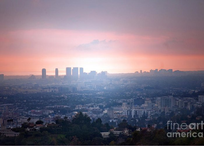 Los Angeles Greeting Card featuring the photograph La Ca by Dan Holm
