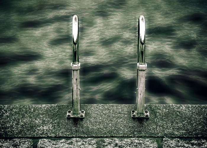 Lago Maggiore Greeting Card featuring the photograph Ladder by Joana Kruse