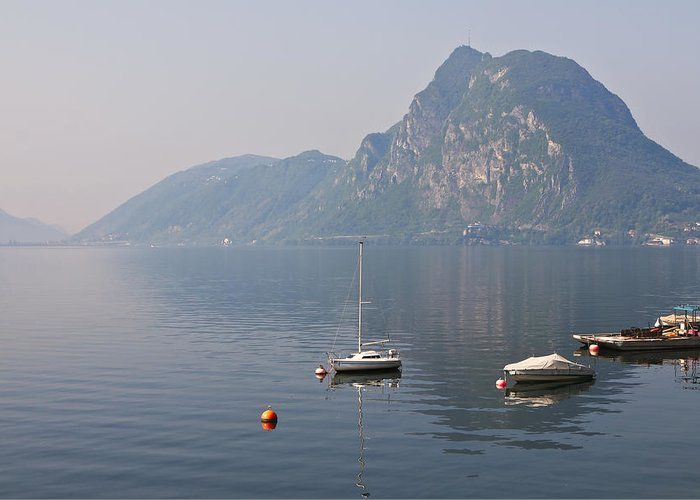 Travel Greeting Card featuring the photograph Lago Di Lugano by Joana Kruse