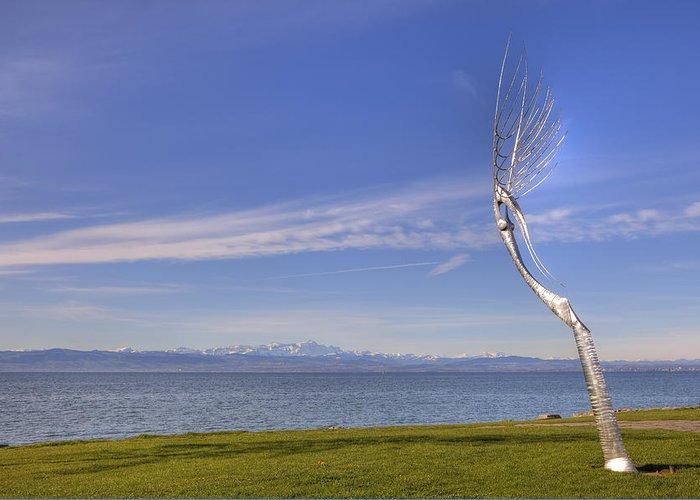 Friedrichshafen Greeting Card featuring the photograph Lake Constace Friedrichshafen by Joana Kruse