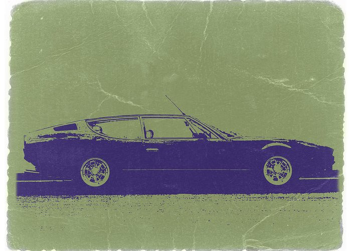 Lamborghini Espada Greeting Card featuring the photograph Lamborghini Espada by Naxart Studio