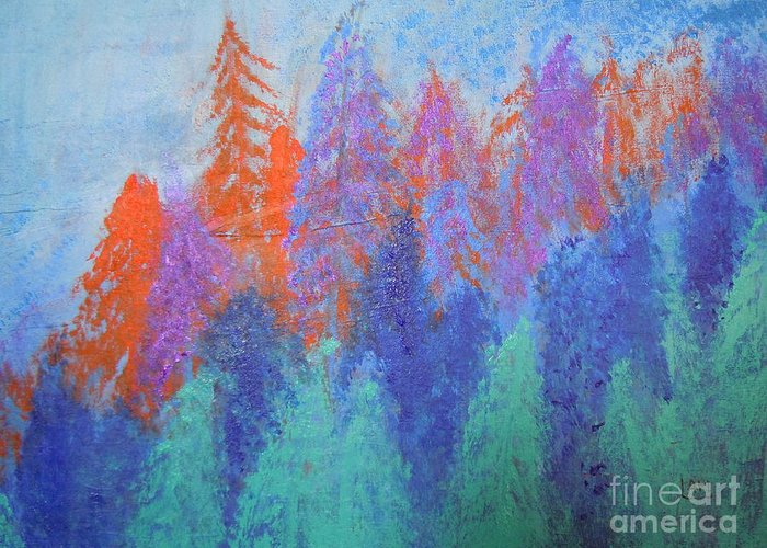 Landscape Greeting Card featuring the painting Landscape- Color Palette by Soho