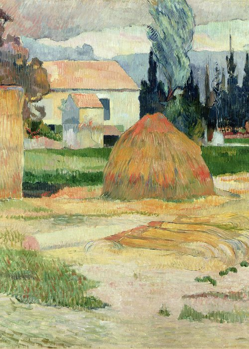 South Of France Greeting Card featuring the painting Landscape Near Arles by Paul Gauguin