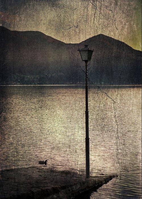 Lantern Greeting Card featuring the photograph Lantern At The Lake by Joana Kruse