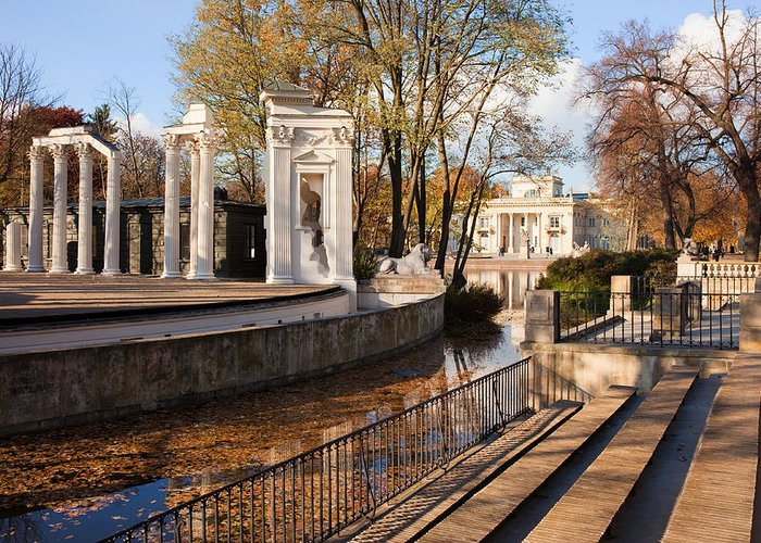 Lazienki Greeting Card featuring the photograph Lazienki Park In Warsaw by Artur Bogacki