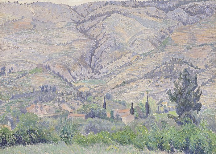 Camille Greeting Card featuring the painting Le Ragas Near Toulon by Camille Pissarro