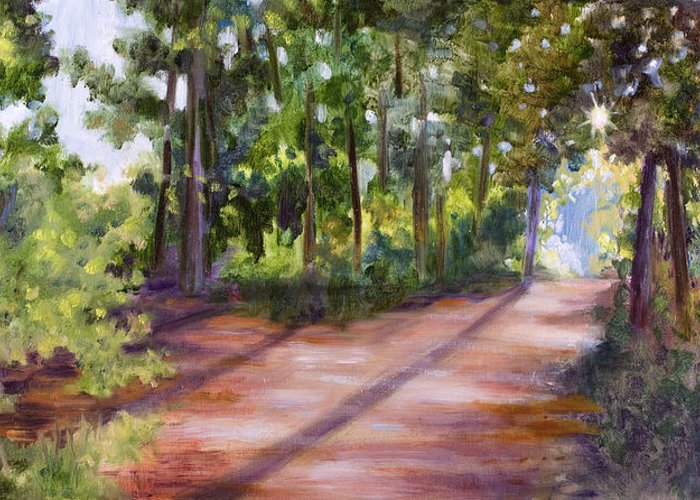 Summer Greeting Card featuring the painting Left Or Right by Sheila Kinsey