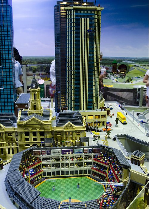 Legoland Greeting Card featuring the photograph Legoland Dallas I by Ricky Barnard