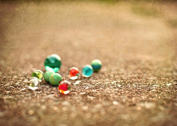 Marbles Greeting Card featuring the photograph Let's Play by Jennifer Burden