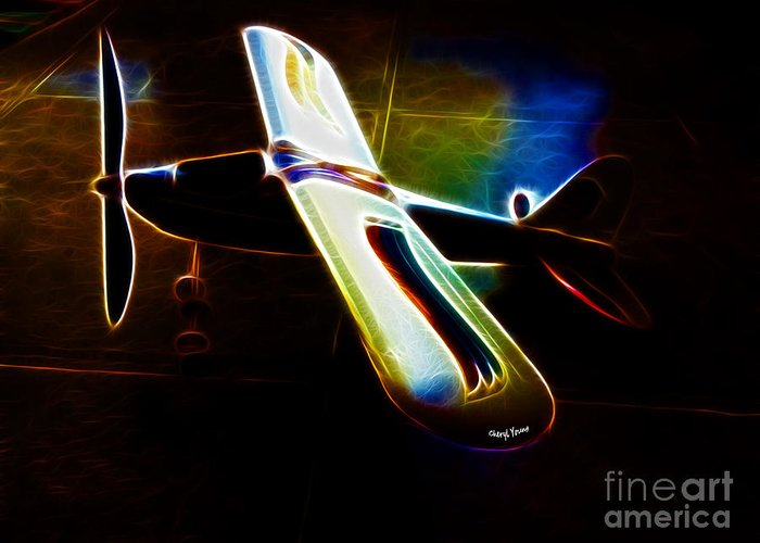 Small Planes Greeting Card featuring the photograph Lil Plane by Cheryl Young