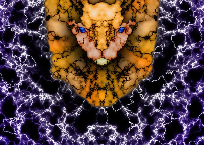 Lion Greeting Card featuring the painting Lion's Roar by Christopher Gaston