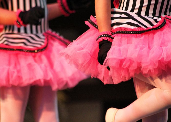 Ballet Greeting Card featuring the photograph Little Pink Tutus by Lauri Novak