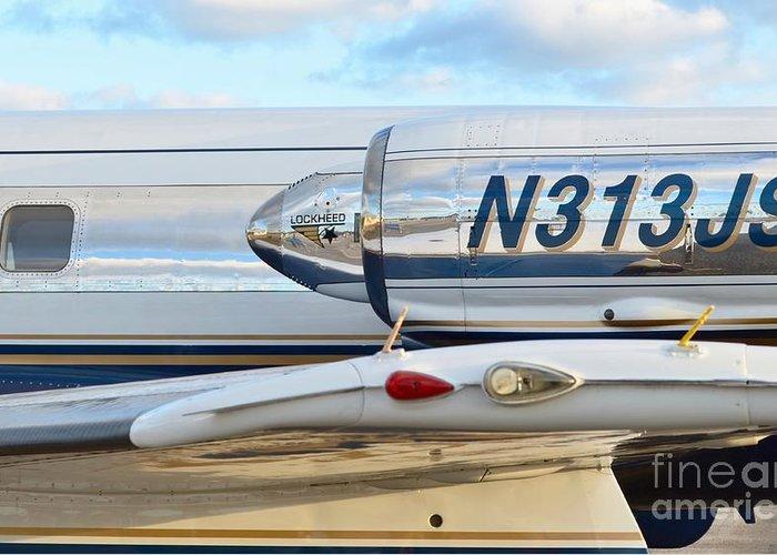 Lockheed Greeting Card featuring the photograph Lockheed Jet Star Engine by Lynda Dawson-Youngclaus