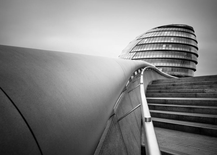 London Greeting Card featuring the photograph London City Hall by Nina Papiorek