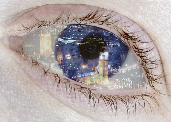 London Eye Greeting Card featuring the photograph London Eye by Alice Gosling