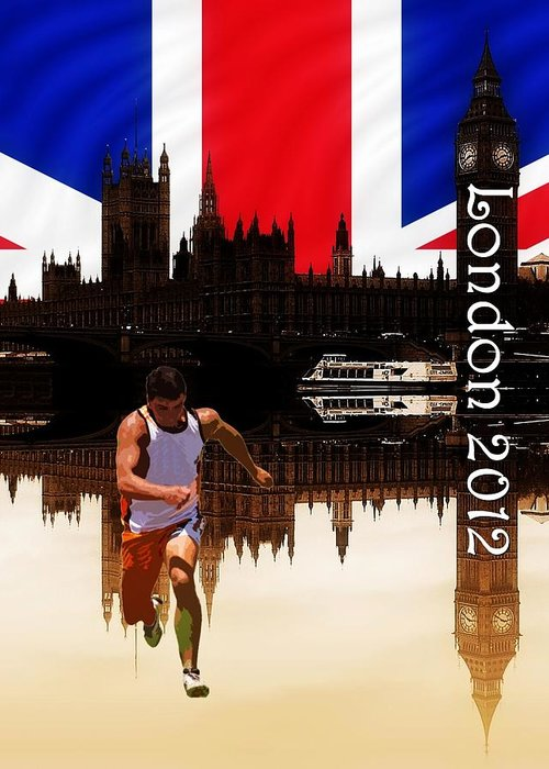 London 2012 Greeting Card featuring the photograph London Olympics by Sharon Lisa Clarke